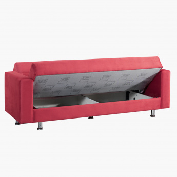 Zeus Sofa Bed with Storage and Two Cushions