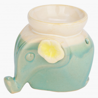 Elephant with Flower Oil Burner