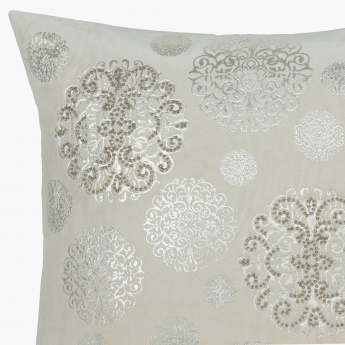 Triton Embroidered Filled Cushion - 45x45cms