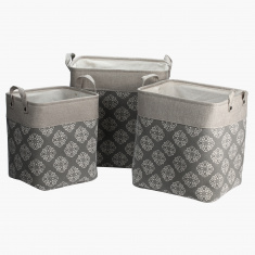 Helen Printed Storage Bag - Set of 3