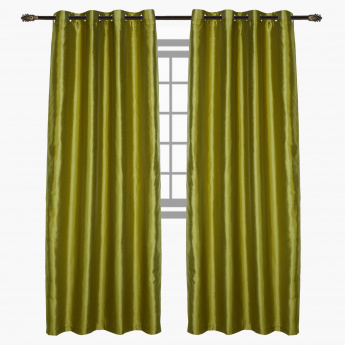 Dupioni Lined Curtain Pair-140x240 cms