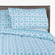 Lattice Printed Twin 3-Piece Comforter Set