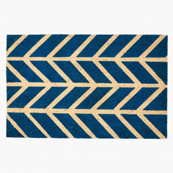 Chevron Printed Rectangular Door Mat - 60x90 cms