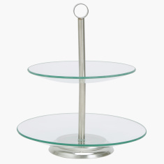 Coral 2-Tier Cake Stand