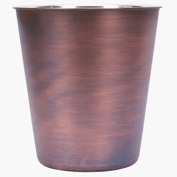Antique Taper Bin with Metallic Finish