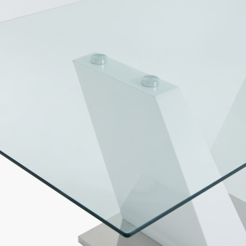 Luna Square Table with V-Shaped Base
