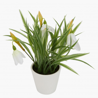 tulip decorative grass with pot | artificial flowers & plants