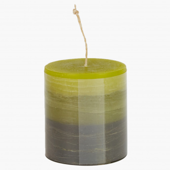 Fern Rustic Lemongrass Scented Pillar Candle