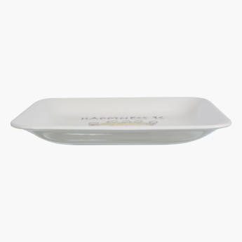 Happiness is Square Snack Plate - 22 cm