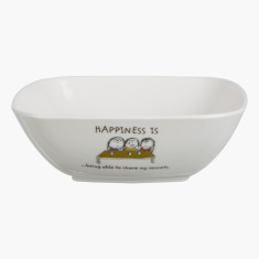 Happiness is Square Bowl - 13cm