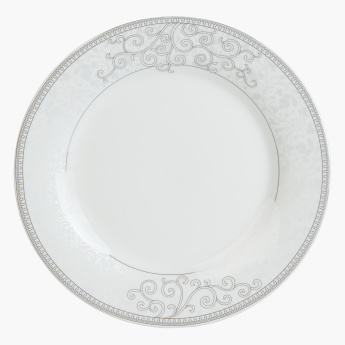 Swirl Printed 49-Piece Dinner Set