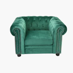 Claymont Tufted Armchair with Stud Detail