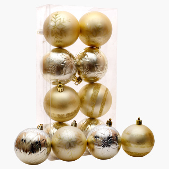 Chamdol Xmas Textured Ball - Set of 8
