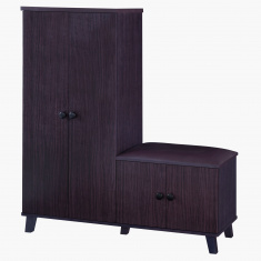 Montoya 23-Pairs Shoe Cabinet with Seat