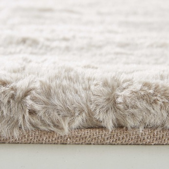 Faux Rabbit Rectangular Textured Rug - 80x150 cms
