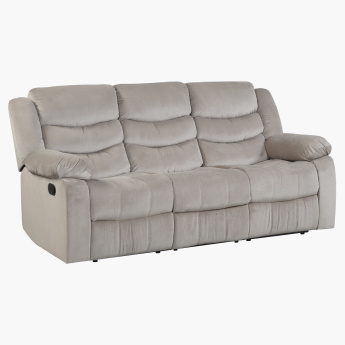 Jacinta 3 Seater Recliner Sofa Brown Fabric