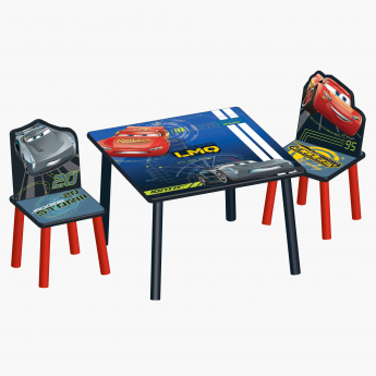 Cars Printed Kid's Table and Chair Set