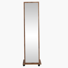 Burcham Floor Standing Mirror with Wheels