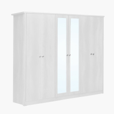 Montoya 6-Door Wardrobe with 2 Mirrors