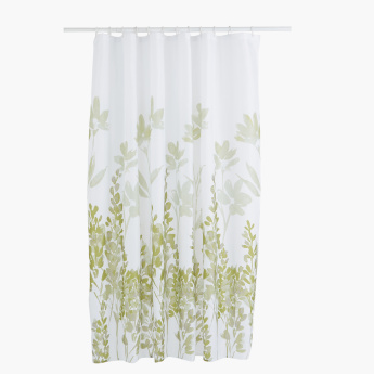 IKAT Printed Shower Curtain with 12 Hooks - 180x180 cms