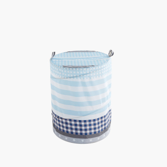 Playful Printed Laundry Hamper