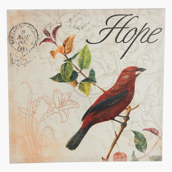 Poster Birds Canvas with Glitter - Set of 2