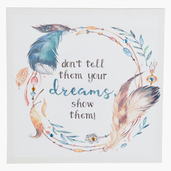 Dream Printed Canvas with Glitter
