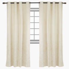 Breeze Textured Blackout Curtain Pair - 135x300 cms