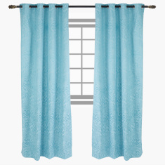 Breeze Printed Blackout Curtain Pair - 135x300 cms