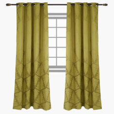 Tropical Printed Blackout Curtain Pair - 135x240 cms