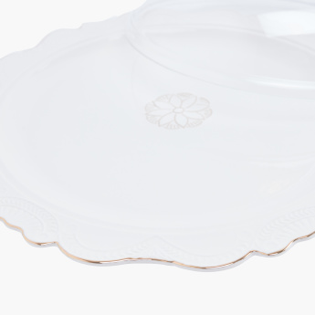 Queens Circular Cake Plate with Lid - 35 cms