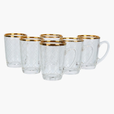 Endura Printed 6-Piece Tea Mug Set