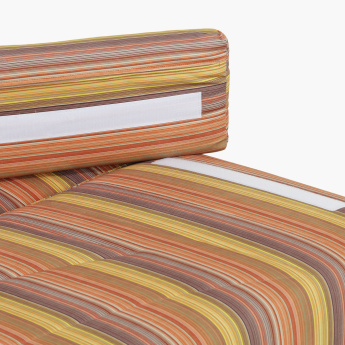 Demo Striped Sofa Bed with 2 Removable Pillows