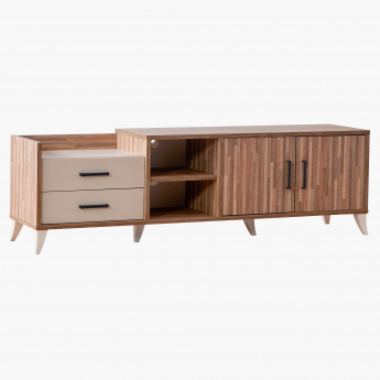 Parkay 2-Drawer 2-Door Low TV Cabinet for TVs up to 55 inches