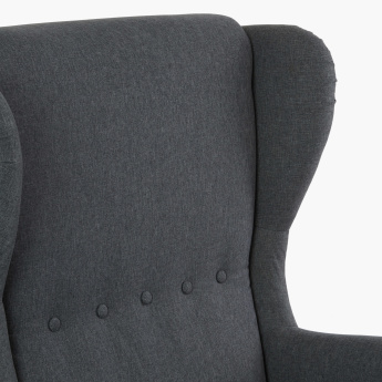 Cementino Textured Wing Chair