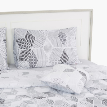 Scalene Printed 5-Piece Twin Comforter Set - 220x160 cms