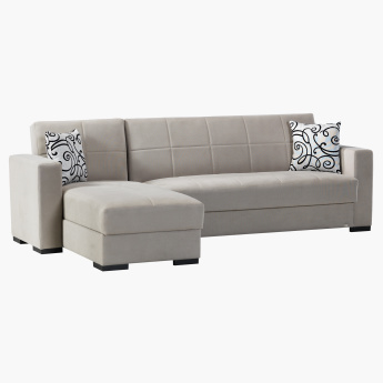 Bercy 3-Seater Corner Sofa Bed with Scatter Cushions