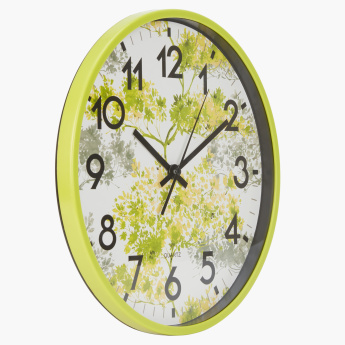 Fern Printed Round Wall Clock