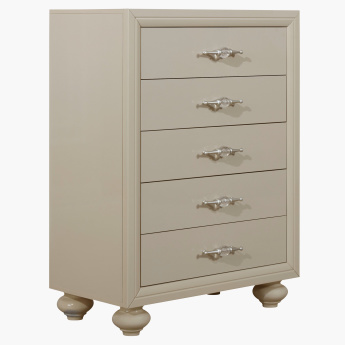 Harvest 5-Drawer Chest of Drawers in High Gloss Laquer