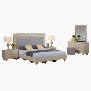 Harvest High Gloss 6-Piece King Bedroom Set