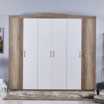 Camron Textured 6-Door Wardrobe