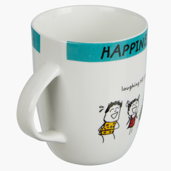 Happiness is to Laugh Mug - 355 ml