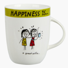 Happiness is a Great Selfie Mug - 355 ml