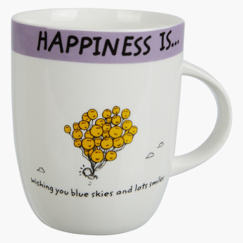 Happiness is Blue Skies and Lots of Smiles Mug -355 ml