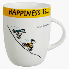 Happiness is Total Freedom Mug - 355 ml