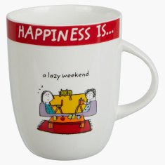 Happiness is Lazy Weekend Mug - 355 ml