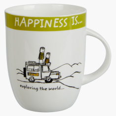 Happiness is Exploring The World Mug - 355 ml