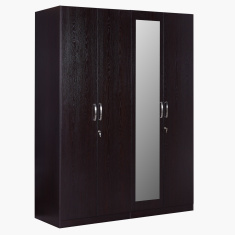 Apollo 4-Door Wardrobe with Mirror in MDF