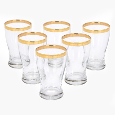 Barrel Metallic Rim Tumbler - Set of 6