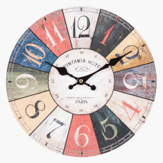 Dart Board Printed Round Wall Clock